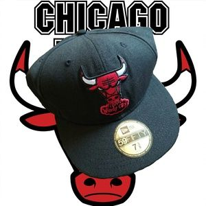 NEW ERA Chicago Bulls Hat • NEW • 7 3/8